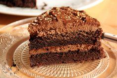 Gâteau chocolat et mousse chocolat