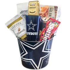 Dallas Cowboys Snacks Basket Cowboy Snacks, Dallas Cowboys Gifts, Cowboy Birthday, Gift Baskets