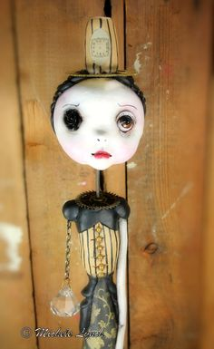 Steampunk Souls Art Doll Pop Surrealism by michelelynchart on Etsy, $150.00