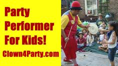 Party Performer For Kid's!For More Info Visit: http://www.Clown4Party.com I have been a Children's Entertainer for over TEN years and have performed for thousands of children at Birthday Parties and Private Events. In The Show I perform Juggling, Magic Tricks, Giant Bubbles, Balloon Animals, Face Painting, Party Games, Ukulele Sing-a-Longs & Much More! LOCATIONS: NYC, New York City, NY, Manhattan, Brooklyn, Queens, The Bronx, Staten Island, Westchester, Yonkers, Scarsdale