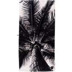 Nui Palm Beach Towel ($48) ❤ liked on Polyvore featuring home, bed & bath, bath, beach towels, plush beach towels, white beach towel and black beach towel