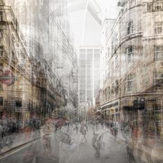 Urban Etchings: Artist layers multiple images to give the impression of pencil drawings Montage Photography, Modern Photography, Photoshop Photography, Photography Projects, Abstract Photography, Artistic Photography, Amazing Photography, Landscape Photography, Photography Zine