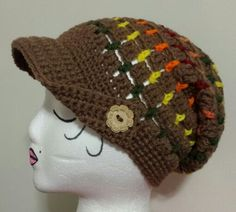Summer Slouchy Hat...designed by The Hat and I...Crocheted by Me <3
