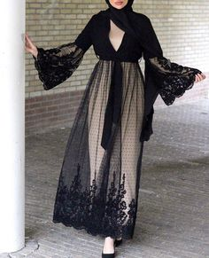 Latest Abaya designs for 2018 Iranian Women Fashion, Islamic Fashion, Muslim Fashion, Modern Hijab Fashion, Abaya Fashion, Fashion Dresses, Hijab Mode Inspiration, Abaya Mode, Hijab Stile
