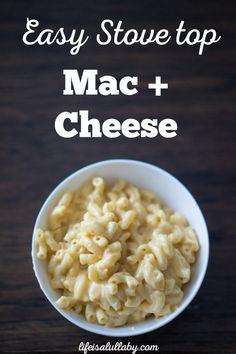 Easy Stove Top Mac + Cheese