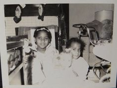 2 Girls Holding Their Christmas Dolls Black Americana Looks Late 40s Early 50s • $8.95 - PicClick