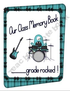 """End of Year Memory Book- """"This Year Rocked"""" Theme"""