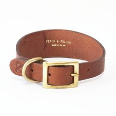 Deck out your hip hound in a gorgeous leather collar from our latest brand - Fetch & Follow. Sizes to fit Greyhounds, Whippets and Italian Greyhounds: