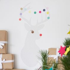 Want to brighten up your Christmas decor instantly? Add the lovely Chevron Deer Wall Sticker and infuse festivity into the room easily and quickly! Smart and stylish, easy to put on and equally easy to remove!
