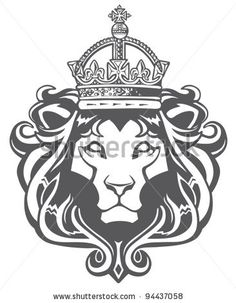 Heraldic Lion stock Illustration. View entire Brewer Arts stock portfolio: http://www.shutterstock.com/gallery-737926p1.html