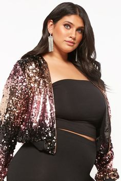 Plus Size Women S Bamboo Clothing Key: 9389936915 Big Girl Fashion, Curvy Fashion, Plus Size Fashion, Plus Size Dresses, Plus Size Outfits, Plus Size Hairstyles, Sequin Jacket, Full Figured Women, Flattering Dresses
