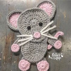 Ravelry: The Mouse by Jen Mitchell - Nella's Cottage Crochet Mouse, Crochet Gifts, Cute Crochet, Crochet Baby, Crochet Elephant, Double Crochet, Pokemon Crochet Pattern, Crochet Applique Patterns Free, Crochet Stitches