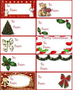 Download Free Christmas Gift Tag. etiquetas navideñas para descargar