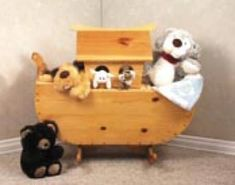 19-w2358 - Noahs Ark Cradle/toy Box Woodworking Plan. - Woodworkersworkshop®…