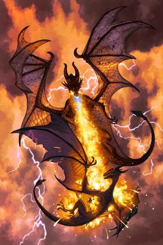 (Fiery dragon!).                            Firestorm by JamesHall2.deviantart.com on @deviantART