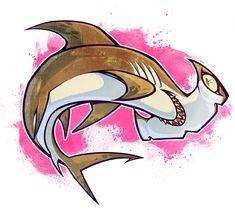 SHARKWEEK: Great Hammerhead by squeedgemonster.deviantart.com