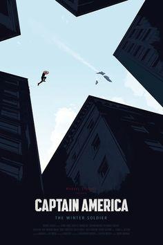 poster minimalista del Captain America: The Winter Soldier. Captain America Poster, Captain America Tattoo, Captain America Wallpaper, Capt America, Winter Soldier, Marvel Universe, Logo Super Heros, Poster Minimalista, Poster Design