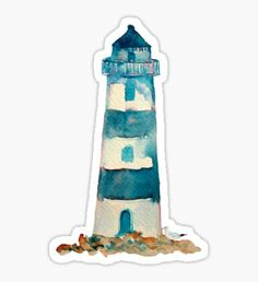 Pegatina Watercolor Lighthouse