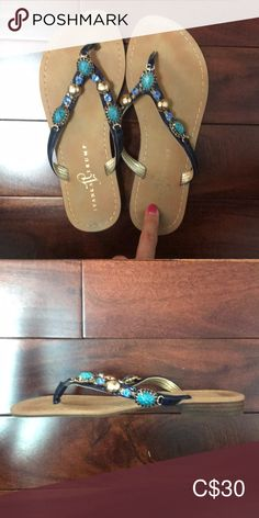 Ivanka Trump Leather Sandals Beautiful footwear for the summer time! - Made in China Ivanka Trump Shoes Sandals Women's Shoes Sandals, Leather Sandals, Ivanka Trump Shoes, Summer Time, Flip Flops, Footwear, China, Best Deals, Closet