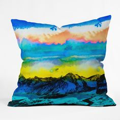 CayenaBlanca Wild West Sunrise Outdoor Throw Pillow | DENY Designs Home Accessories