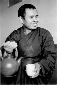 young zen master Thich Nhat Hanh by tea
