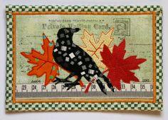 """Autumn Day"" fabric postcard by: Annie/freezeframe 03"