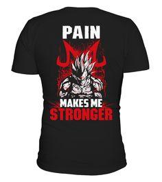Majin Vegeta Pain Makes Me Stronger  #image #shirt #gift #idea #hot #tshirt #movie #film
