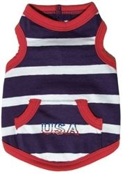USA #Dog #Tank Top. Featuring red, white and blue stripes with USA studding. All American Classic. $34.99