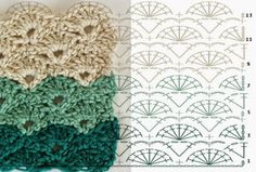 How to make point in range - step by step and video tutorial - Crochet Free Crochet Sole, Crochet 101, Crochet Fabric, Crochet Diagram, Crochet Books, Crochet Chart, Crochet Granny, Baby Blanket Crochet, Crochet Baby
