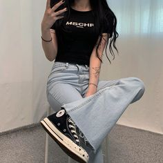 Kpop Outfits, Korean Outfits, Fashion Outfits, Womens Fashion, Stylish Outfits, Asian Style, Korean Style, Daily Look, Aesthetic Clothes