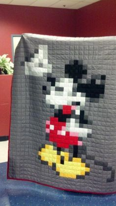 Mickey Quilt project on Craftsy.com