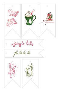 Free Holiday-gift-tag printable from Style Me Pretty