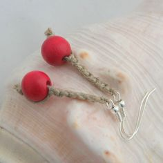 Macrame earrings, $5