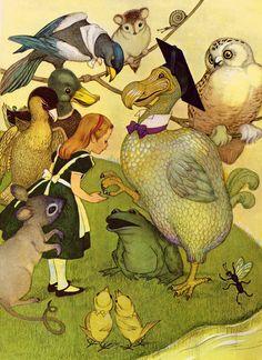 Alice in Wonderland written by Lewis Carroll, illustrated by Marjorie Torrey (1955).