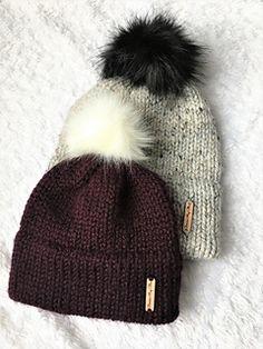 Motifs Beanie, Knit Beanie Pattern, Chunky Knitting Patterns, Knit Beanie Hat, Easy Knitting, Double Knitting, Toddler Knitting Patterns Free, Beanies, Knit Crochet