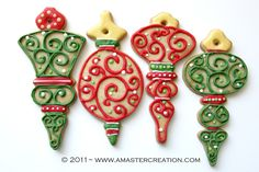 Christmas cookie designs by www.amastercreation.com