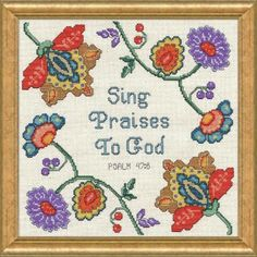 Sing Praises Counted Cross-Stitch Kit - Herrschners