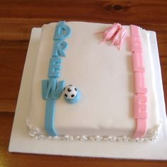 Shared Birthday Cake Boy And Girl Image Inspiration of Cake and