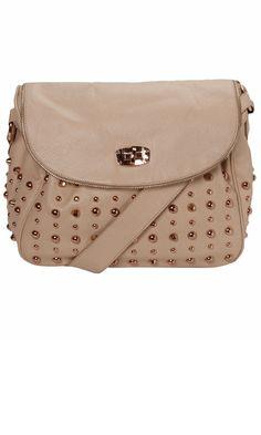Matalan Peach Studded Handbag