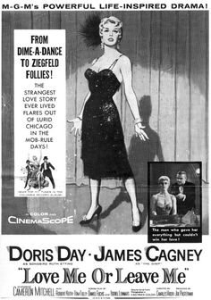 After watching this film as a very young girl I came away with a horrified view that Jimmy Cagney beat up Doris Day! OMG! I was left feeling very sorry for (Doris) Ruth Etting and what a beast (Jimmy) Marty the Gimp was to abuse and stalk her.