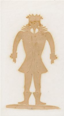 Happy man with laurel of hearts on his head, fine collar, tailored jacket with cuffs - and boots. City Museum, Odense, Tailored Jacket, Paper Cutting, Paper Art, Disney Characters, Fictional Characters, Folk, Aurora Sleeping Beauty