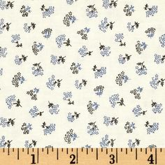 """Downton Abbey II Flower Bunch Blue from @fabricdotcom  Licensed by Carnival Film & Television Ltd. to Andover Fabrics, this cotton print fabric is inspired by the TV series, """"Downton Abbey."""" It is perfect for quilting, apparel, crafts, and home decor items. Colors include blue, black, and cream."""