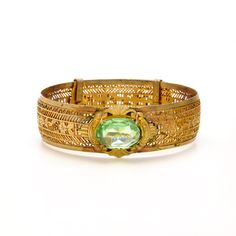 Victorian Filigree Peridot Bracelet