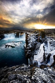 The Waterfall of the Gods, Goðafoss in Iceland