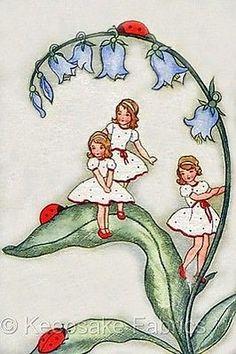 illustrations and art Vintage Children's Books, Vintage Cards, Vintage Postcards, Vintage Images, Art Disney, Vintage Fairies, Children's Book Illustration, Book Illustrations, Flower Fairies