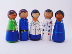 Profession peg people Teacher pegs Police man by TCsgirlscrafting