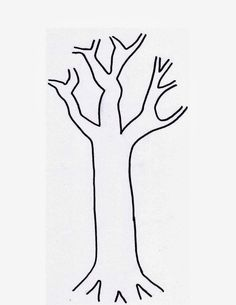 bare tree without leaves coloring pages tree coloring pages fall