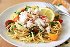 Dungeness Crab Lemon Basil Pasta | Savory Sweet Life - Easy Recipes from an Everyday Home Cook