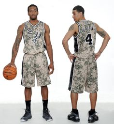 San Antonio Spurs new alternate uniforms must have been playing too much Call of Duty.