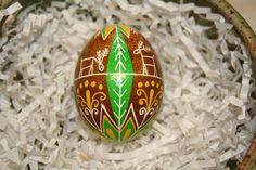Sunny Deer Ukrainian Egg by StiglianoDesigns on Etsy